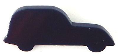 Old Black Bakelite car pin