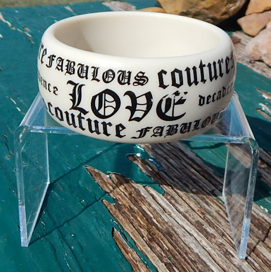 Lucite words bangle