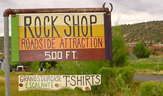 Rock Shop Sign