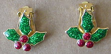 S362 Holly clip on earrings