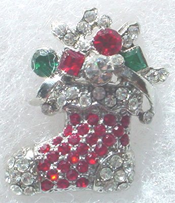 Christmas Rhinestone Stocking