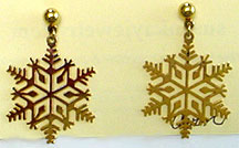 Avon snowflakes stud earrings