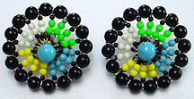 Vendome plastic bead clip earrings
