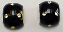 Dior enamel rhinestone clip earrings