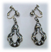 Napier silver clip earrings