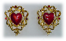 Avon heart earrings
