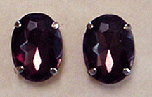 lucite faceted post earrings