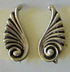 Mexican silver swirl clip on earrings