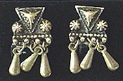 Mexican sterling dangle screw back earrings