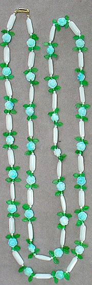 Plastic bead necklace