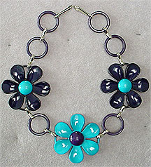 Plastic flower necklace