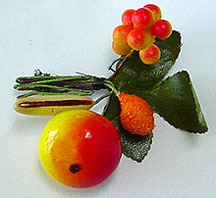 Plastic fruit pin