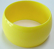 Plastic yellow bangle