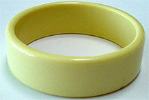 Plastic ivory bangle