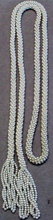 Faux pearl bead rope necklace