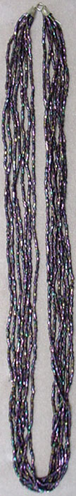 Long seed bead necklace