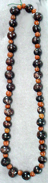 Mexican clay bead necklace
