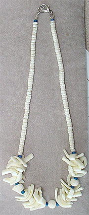 Heishe coral bead necklace