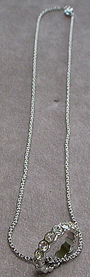 Silver chain rhinestone necklace